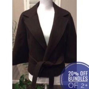 MICHAEL Michael Kors Wool Blend Belted Cape